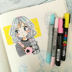 how to draw smile Anime Drawings Sketches, Kawaii Drawings, Cartoon Drawings, Cute Drawings, Marker Kunst, Marker Art, Cute Art Styles, Cartoon Art Styles, Arte Copic