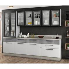 Kitchen Cupboard Designs, Kitchen Room Design, Kitchen Units, Interior Design Kitchen, Crockery Cabinet, Dining Area Design, Kitchen Modular, Living Room Tv Unit Designs, Contemporary Kitchen Design