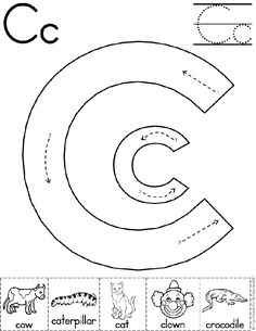 alphabet letter c worksheet preschool printable activity traditional block manuscript - Printable Activity
