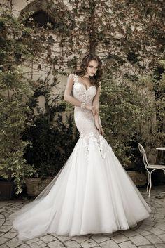 マーメイドの尾びれのようなデザインのドレスにうっとり♡花嫁衣装に着たいマーメイドウェディングドレスまとめ一覧♡