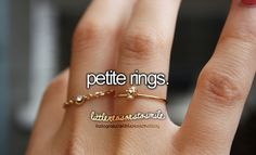 Petite rings.