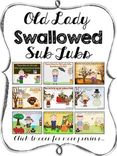 There Was An Old Lady Who Swallowed A Bat {Sub Tub} and {Bundle}