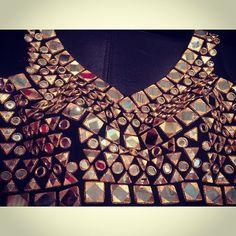 Mirror work blouse #mirror #embroidery #black #gold #glam #blouse #indian #indianfashion #anjalikcouture #anjalik