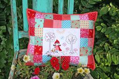 https://flic.kr/p/cD3Bpf   little red embroider pillow from amanda   The sweetest little red riding hood embroidered pillow from Amanda.  We did a little side swap for my other X and + pillow the last round of the Pillow Talk Swap.  I'd been meaning to take a picture for quite some time.  blogged~  lovelylittlehandmades.blogspot.com/2012/07/i.html