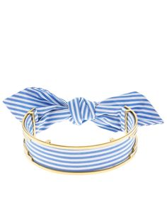 Blue & White Stripe Bandita Cuff Choker