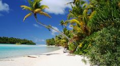 One Foot Island i lagunen ved Aitutaki, Cook Islands