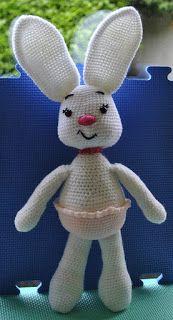 Jay Crochet: Amigurumi- Duży królik do ubierania- wzór na szyde...