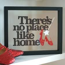Framed 'No Place Like Home' from Wizard of Oz.Papercut by Kyleigh's Papercuts