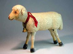 The Schoenhut Sheep  The sheep was introduced in 1909 to go with the Mary sets. No reduced size sheep were produced. Four designs are known differentiated mainly by their head designs.