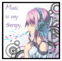 """""""Music is my therapy."""" by italia-kun ❤ liked on Polyvore featuring art"""