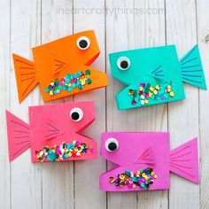 Super Cute Paper Fish Craft | I Heart Crafty Things
