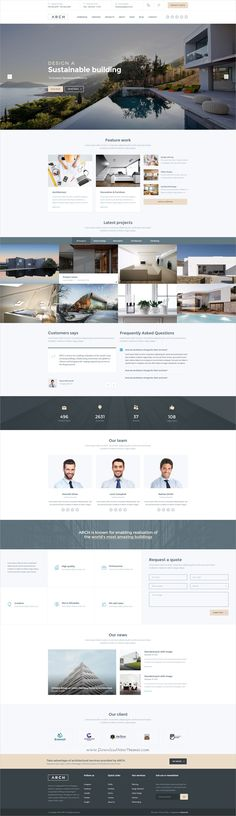 Arch is a modern and elegant design #PSD template for professional #architecture and #interior designers website with 12 organized PSD files download now➩ https://themeforest.net/item/arch-architecture-interior-psd-template/19679056?ref=Datasata