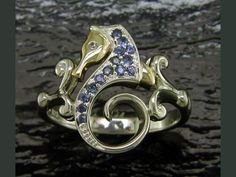 (CLICK PHOTO TO BUY NOW ONLINE) - Steven Douglas 14K and Sterling Silver Seahorse Ring - Style number SGR612B - Enhancery Jewelers