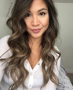 Ash Brown Balayage On Asian Hair Ash Brown Hair Balayage, Balayage Hair, Hair Color And Cut, Brown Hair Colors, Asian Hair, Hairstyles Haircuts, Hair Videos, Gorgeous Hair, Hair Looks