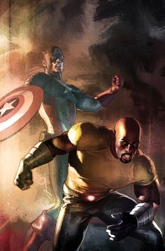 Captain America and Luke Cage by Gerald Parel