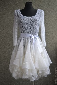 Вязаное Платье Из Ангоры Купить