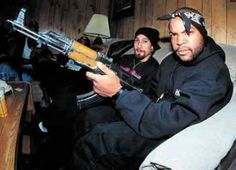 Ice Cube and B.Real with the AK...I am concerned with how much weed they have smoked. www.mymainmanpat.com #IceCube #NWA #BReal #CypressHill #HowHigh #420 #hiphophead