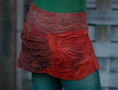 Merino WoolWrap Skirt  Nuno felted Clothing by FeuerUndWasser, $115.00