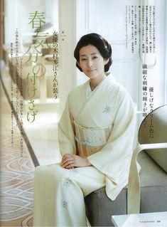 Tae Kimura(木村 多江) / 布:銀座もとじ和染 / 帯:銀座もとじ和織