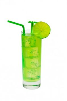 Ultimate Junebug    1 ounce Midori  3/4 ounce Malibu coconut rum  3/4 ounce banana liqueur  1 ounce sweet and sour mix  1 ounce pineapple juice  Fill a cocktail shaker with ice. Pour in all the ingredients, and shake until chilled. Strain the mixture into a collins glass over ice.