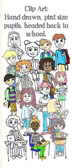 Decorate your bulletin board, classroom, or TPT products with my whippersnapper clip art. Hand drawn for a unique and different look. Includes hand colored, black and white, and digitally colored. High School Art, Back To School, Visual Art Lessons, Bulletin Board, Hand Coloring, Art World, Wonderful Images, Elementary Schools, Cover Art