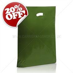 Harrods Green Standard Grade Plastic Carrier Bags - http://www.carrierbagshop.co.uk/Shop/Bags/Product/315/PL-STDAGREE/HarrodsGreenStandardGradePlasticCarrierBags.aspx