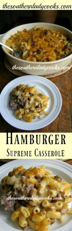 Hamburger Supreme Casserole