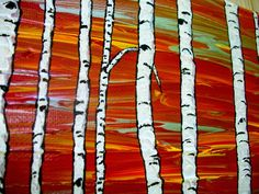 Vision Quest IV Original Acrylic Painting 20 x 16 by MikeKrausArt Chicago Architecture Foundation, Goofy Dog, Vision Quest, Red Tree, Art Institute Of Chicago, Artist Trading Cards, Fantasy Landscape, Acrylic Painting Canvas, Landscape Paintings