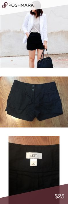 🎈30% off Bundles🎈❤️HP❤️ Linen Shorts Awesome pair of LOFT classic black linen shorts. These are a must have! LOFT Shorts