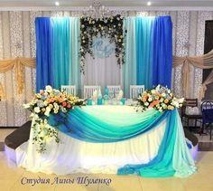 Wedding Reception Backdrop, Wedding Seating, Wedding Table, Arch Decoration, Altar Decorations, Pakistani Mehndi Decor, Birthday Party Planner, Blue Wedding Decorations, Wedding Arbors
