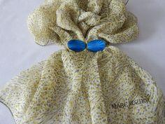 Vintage Marc Rozier Silk Scarf French by AlwaysPlanBVintage on Etsy