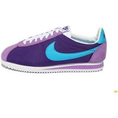 http://www.asneakers4u.com/ Deep Purple Blue Shoes Women Nike Cortez Oxford Cloth