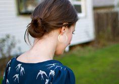 adding sleeves to a tank pattern.  flocking bird silk shirt (sleeve tutorial)