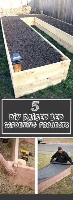DIY raised bed gardening projects #raisedgardenbeds