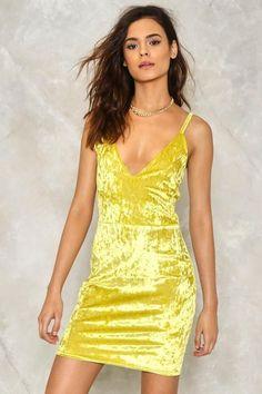 Nasty Gal nastygal Just a Little Crush Velvet Dress