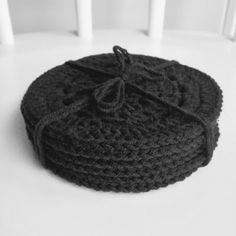 Crocheted coasters by annikaisa