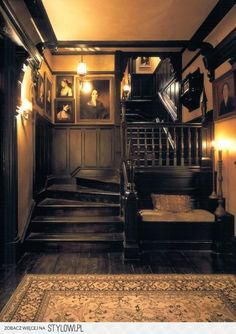 """19 Dark and Moody Interiors For the film """"Practical Magic,"""" the decidedly A-list design duo Roman and Williams built and decorated a Victorian-inspired home. Style At Home, Practical Magic House, This Old House, Witch House, Spooky House, Witch Cottage, Cottage In The Woods, Gothic Home Decor, Modern Victorian Decor"""