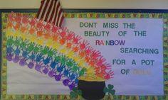 My preschool St. Patrick Bulletin Board!