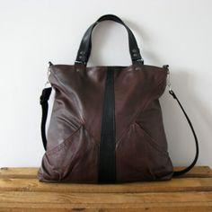 ROTSI Brown Leather Bag Cross Body Bag Handbag by SalmiakStudio