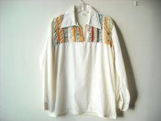 Vintage Patchwork Hippie Shirt by Baxtervintage on Etsy, $30.00