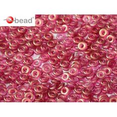 5gr O bead® 1x4mm, Czech Glass, Crystal GT French Rose