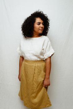 Minimal handmade linen Affordable Clothes, Linen Dresses, Linen Fabric, Custom Clothes, High Waisted Skirt, Minimal, Skirts, Handmade, Tops