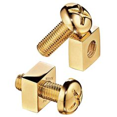 "VERDURA ""Nut and Bolt"" Gold Cufflinks"
