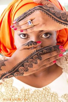 I did not know that the tradition of bridal henna was practiced in cultures outside of Asia! African henna: so beautiful and unique! -Sian
