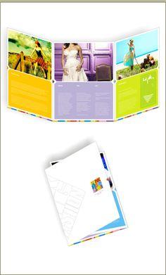 Large 6-page tri-fold brochure design.