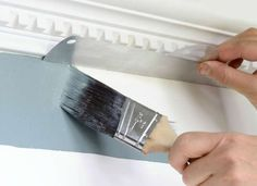 Aluminum Paint Shield - 7 Painting Tools You Never Knew You Needed - Bob Vila Painting Tools, House Painting, Diy Painting, Painting Trim Tips, Painting Hacks, Faux Painting, Painting Furniture, Paint Colors For Home, House Colors