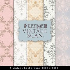 New Vintage Freebies Backgrounds ~ Far Far Hill  {This is the correct URL unlike others floating around}