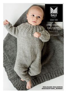 Hel dress og teppe i Eco Wool fra Dale Diy Crafts Knitting, Knitting For Kids, Knitting For Beginners, Baby Knitting Patterns, Knitting Designs, Baby Patterns, Baby Outfits, Kids Outfits, Tricot Baby