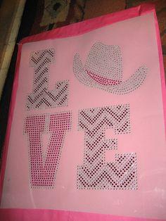 Cowgirl Love Rhinestone Transfer by cthorses66 on Etsy, $9.99