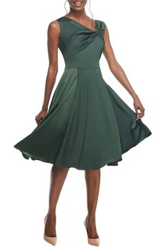 0971e404fc49 Gal Meets Glam Collection Noelle Twist Neck Satin Dress (Regular & Petite) ( Nordstrom Exclusive)   Nordstrom